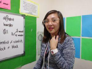 フィリピン人講師のマンツーマン授業風景1