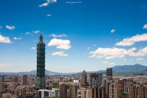 台北市内からの台北101への眺め