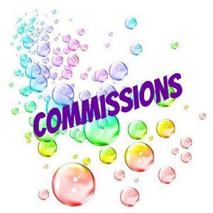 Commissionsと書かれたイラスト