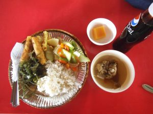 海鮮料理とごはんのお皿