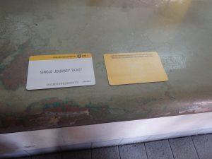 切符カードの表と裏