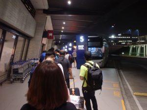 桃園空港にある台北駅前行き長距離バス