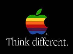 Think Differentのアップルの広告ポスター