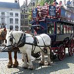 観光客を乗せる四輪馬車