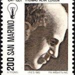 エジソンの切手
