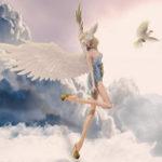 羽が生えた天使の絵