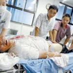 大怪我して病院に運ばれた患者