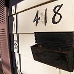 家の番地が書いてある表札