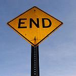 End(行き止まり)の標識