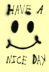 Have a nice dayと書かれたポスター