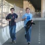 ジョギングをする欧米人たち