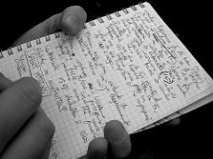 ノートに書き留める