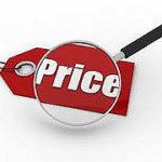 Priceと書かれた札