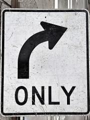 右側通行のサイン