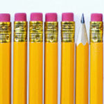 ひとつだけ反対向きの鉛筆