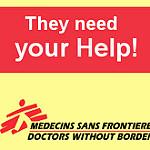 国境なき医師団の支援ポスター