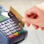 クレジットカードを認識機械に通している