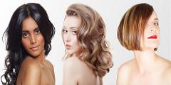 ビューティーサロンのヘアーモデル達
