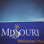 Missouri welcomes youと書かれた看板
