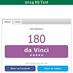 IQのオンラインスコア表