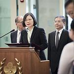 台湾総統蔡英文が声明を発表している