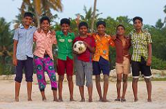 サッカーチームの子供たち