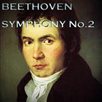 Beethoven Symphony 2と綴られたベートーヴェンの肖像画