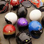 スワップミートのバイクヘルメット交換商品