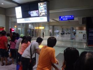 フィリピン航空専用マニラ国際空港ターミナル2の国際線出口付近