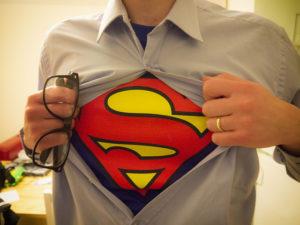 スーパーマンに変身