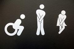 トイレが緊急な人を表すイラスト
