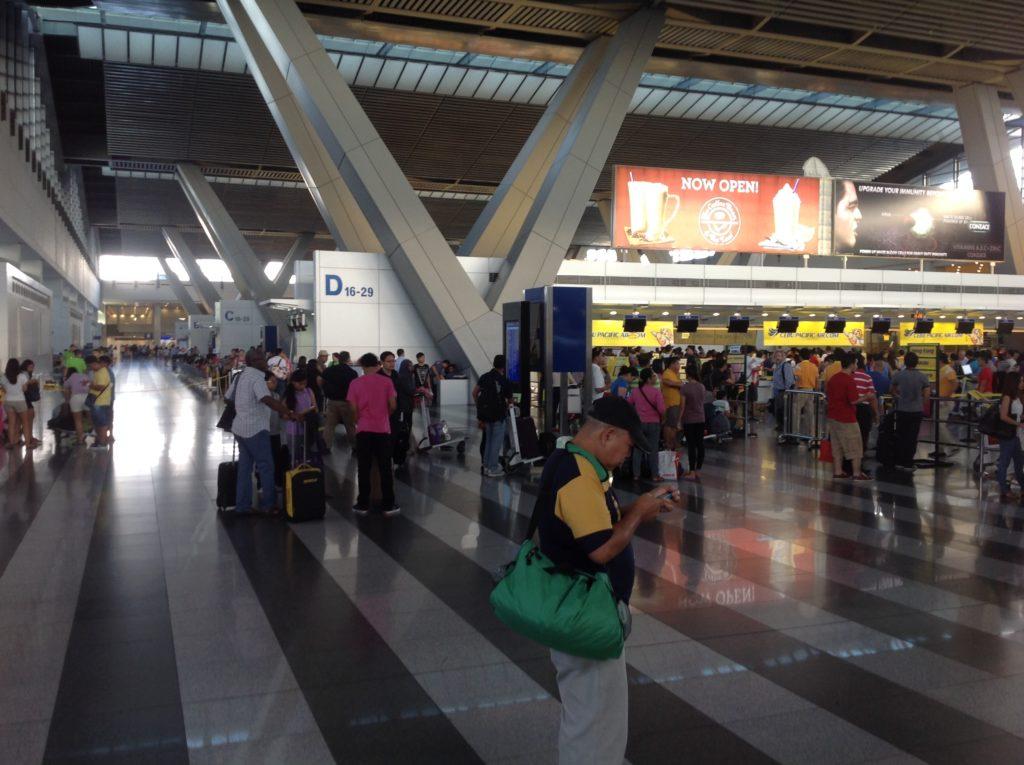 マニラ空港ターミナル3チケットカウンター