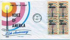 VOAの設立25周年記念切手