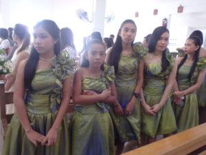 グリーンの服を着る参加者たち