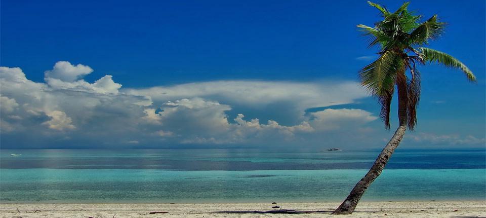 マラパスクア島のビーチ