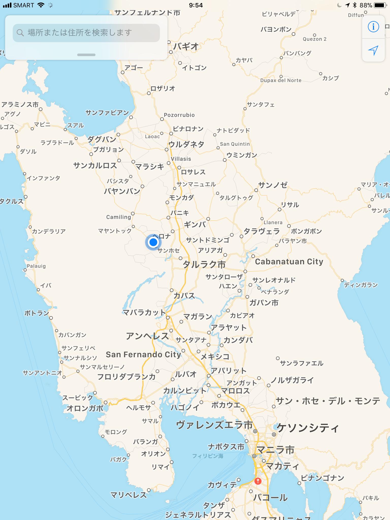 Googleマップで見る結婚式会場の位置