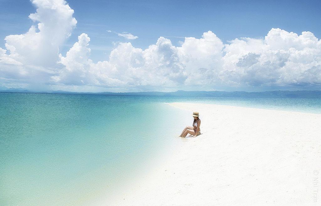カランガマン島の白浜