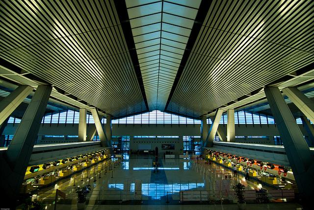 ターミナル3のチケットカウンター