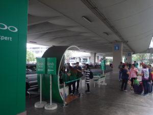 マニラ国際空港ターミナル2のGrabタクシー乗り場