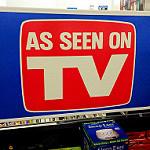 As seen on TVと書かれた宣伝者