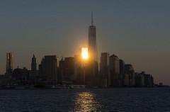 マンハッタンの朝日