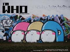I am Whoと書かれた壁の絵