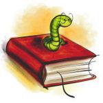 本の上に乗っている虫