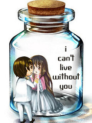 I can not live without youと書かれたイラスト