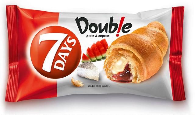 7 Days Doubleという名前の食用パンのパッケージ