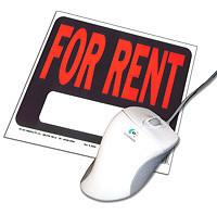For rentと書かれたパソコンレンタルのイラスト画