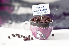 Have a nice dayと書かれている。