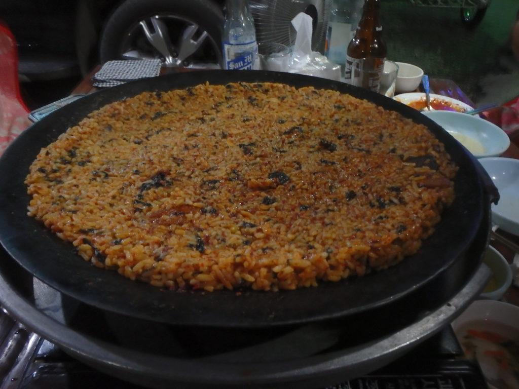 ツクミ料理のダシで作った焼き飯