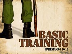 Basic Trainingと書かれた軍人のイラストポスター