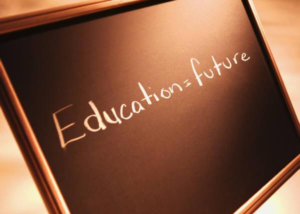 Education=Futureと書かれた黒板